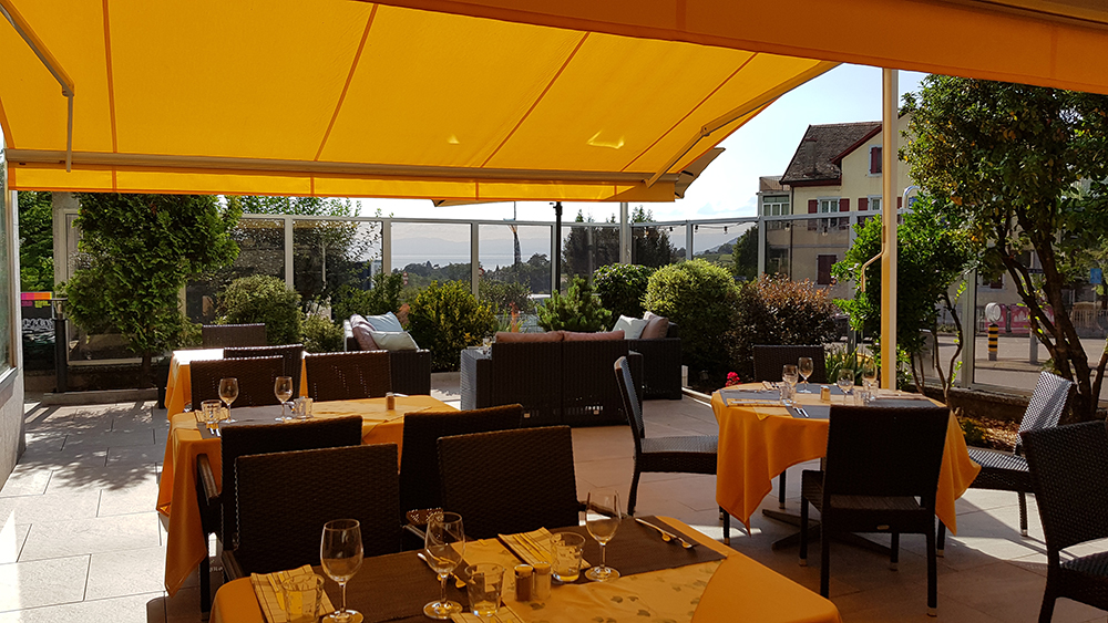 Hotel de Chailly in Chailly/Montreux - Terrasse